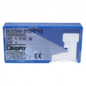 Dentsply Sirona Silicone-stop Dispenser Blue (диспенсер + 200 шт) /Ref:A019700000200
