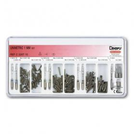 Dentsply Sirona Unimetric Set Titanium 1.0 mm (развертки, ключ, 120 штифтов) /Ref:C226T00001000